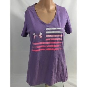 Under Armour Shirt Women's XS Short Sleeve Purple